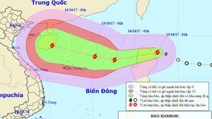 Áp thấp nhiệt đới mạnh thành bão, tiến gần Hoàng Sa