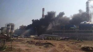 Khống chế kịp đám cháy trong nhà máy Nhiệt điện Thái Bình 2