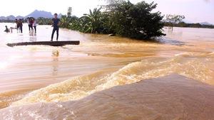 Hà Nội: Đê lở, nước 'hồi hương' ngập trắng