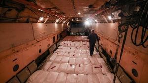 40 tấn hàng cứu trợ của Nga đã đến Cam Ranh