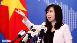 VN quan ngại việc Trung Quốc thông báo diễn tập ngoài Vịnh Bắc Bộ