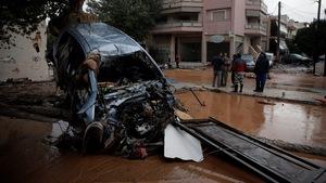 Ngập lụt nghiêm trọng ở ngoại ô thủ đô Hi Lạp