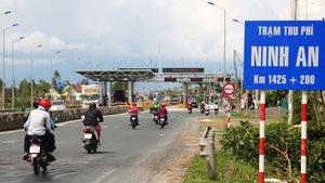 Trạm BOT Ninh An giảm phí nhiều loại xe từ 0h ngày 1-12