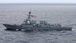 Tàu khu trục Mỹ lại tuần tra ở Biển Đông