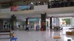 Video clip lốc xoáy chiều 7-6 làm bàn ghế bay như chong chóng