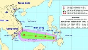 Áp thấp nhiệt đới sắp thành bão đang tiến dần vào Biển Đông