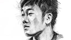 Bộ tranh chì sống động vẽ đội tuyển U23 Việt Nam