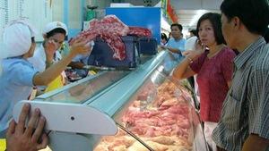 Mở quầy thịt sạch Vissan tại chợ đầu mối Tam Bình