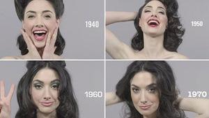 Clip kiểu tóc, trang điểm 10 thập kỷ trong 1 phút