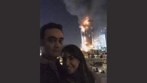 """Cặp đôi bị ném đá vì """"tự sướng"""" trước khách sạn bốc cháy"""