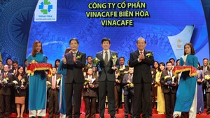 Vinacafé Biên Hòa đạt thương hiệu quốc gia lần thứ 5 liên tiếp