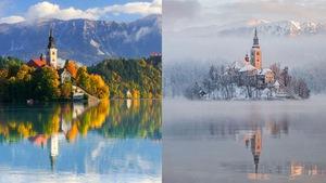 Ngắm khung cảnh 'lột xác' ngoạn mục mùa đông