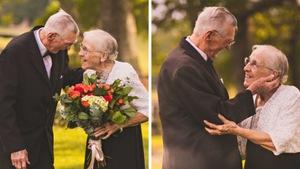 'Tan chảy' ảnh kỷ niệm 65 năm ngày cưới của ông bà cụ