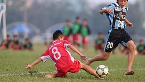 Học viện bóng đá NutiFood thắng đậm U-13 Kawasaki