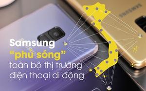 Samsung 'phủ sóng' toàn bộ thị trường điện thoại di động