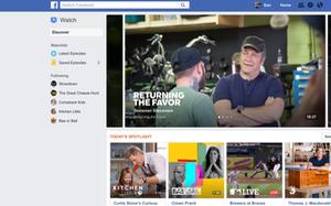 Facebook tạo kênh tin nóng trong nền tảng Facebook Watch