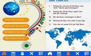 Khám phá châu Âu trong một ứng dụng di động