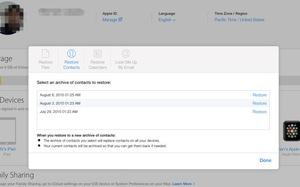 Khôi phục tài liệu khi lỡ xóa trong iCloud