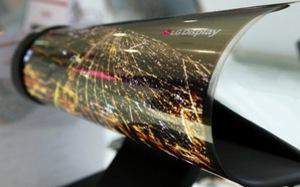 LG trình làng màn hình 18 inch có thể cuộn tròn