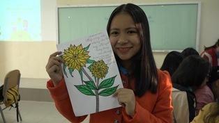 Bạn trẻ xứ Huế vẽ tranh tặng bệnh nhi ung thư