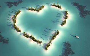 Cùng người yêu vi vu đến 10 hòn đảo hình trái tim
