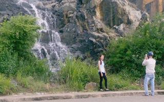 Kỳ lạ thác nước chỉ xuất hiện sau mưa ở Bãi Tiên, Nha Trang