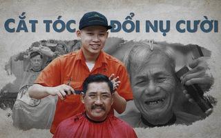 Cắt tóc đổi nụ cười trên vỉa hè Đà Nẵng
