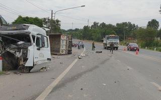Tai nạn liên hoàn, thùng xe lao vào nhà dân