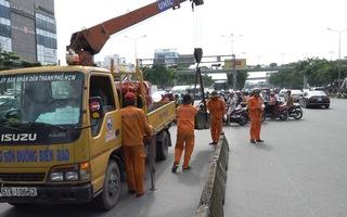 Giao thông xáo trộn ngày đầu đóng nút giao Nguyễn Văn Thương - Điện Biên Phủ