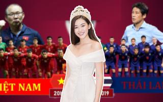 """Á hậu Nguyễn Tường San dự đoán Công Phượng và Tiến Linh sẽ """"nổ súng"""" trong trận gặp Thái Lan"""