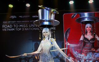 """Hoàng Thùy chọn """"Cafe phin sữa đá"""" là Quốc phục dự thi Miss Universe 2019"""