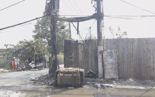 Nổ trạm biến áp ở Bình Chánh, khoảng 300 hộ dân mất điện