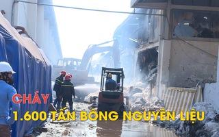 Cháy kho hàng chứa hơn 1.600 tấn bông nguyên liệu