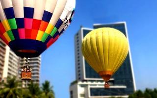 Lần đầu trải nghiệm khinh khí cầu trên biển Đà Nẵng