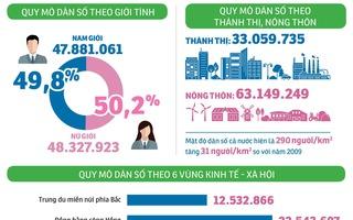 Dân số Việt Nam tăng ra sao trong 10 năm qua?