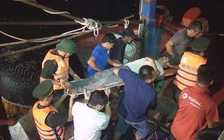 Cứu ngư dân bị co giật do tai biến trên đường vào bờ tránh bão số 4
