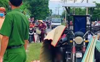 Video: Xe 3 bánh chở nhiều tấm sắt tông bé gái tử vong thương tâm