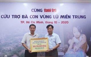 Tiếp nhận thêm 473 triệu đồng cứu trợ đồng bào miền Trung