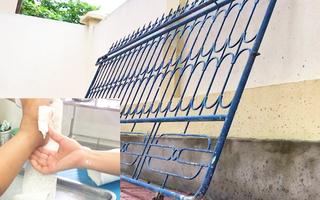 Video nóng: Lại thêm một vụ cổng trường đổ đè một học sinh bị thương