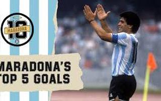 Video: Xem lại 5 bàn thắng ấn tượng của huyền thoại bóng đá Diego Maradona