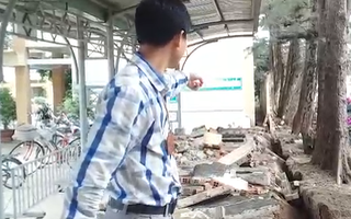 Video: 30m tường rào trường tiểu học đổ sập, đè hàng chục xe học sinh
