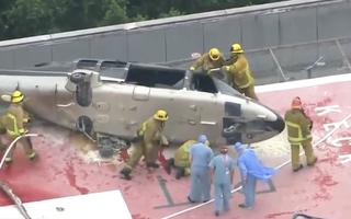 Video: Rơi trực thăng vận chuyển trái tim hiến tặng cho bệnh nhân