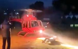 Video: Doanh nhân ngành rượu bị cánh quạt trực thăng văng trúng đầu tử vong