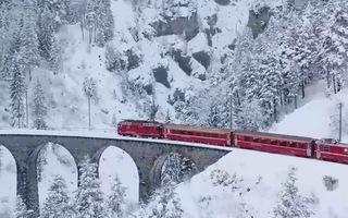 Video: Ngắm mùa đông tuyết trắng tuyệt đẹp trên dãy Alps