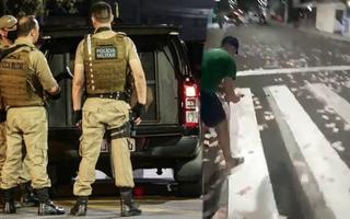 Video: Cảnh sát đấu súng với cướp ngân hàng, tiền rơi vãi khắp đường phố