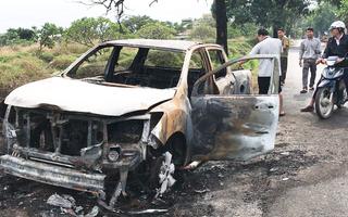 Video: Chồng chạy ôtô vào nghĩa trang châm lửa đốt vì giận vợ