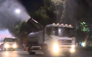 Video: Huy động xe bồn, máy bay không người lái khử trùng các thành phố ở Trung Quốc