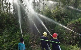 Diễn tập phương án PCCC khi xảy ra cháy rừng U Minh Hạ