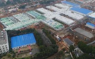 Video: Bệnh viện dã chiến 1.000 giường ở Vũ Hán đã sẵn sàng đối phó dịch Corona
