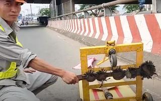 Video: Rải đinh hình thoi dày đặc trên đường còn đe dọa đánh người hút đinh